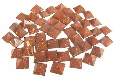 Lot Of 50 Red Jasper Loose Crystal Healing Pyramids Gift Reiki Feng Shui Home
