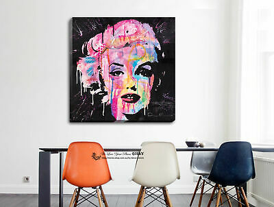 Marilyn Monroe Stretched Canvas Print Framed Wall Art Home Decor People Painting