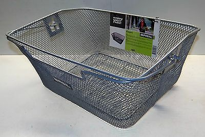 Basket Bike BASIL Capri Silver Bike basket for rear carriers, removable