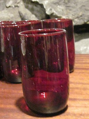 Ruby Red drinking glasses tumblers set of 8