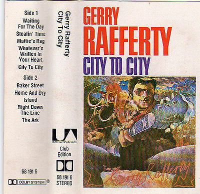 GERRY RAFFERTY City To City MC Tape MUSIKKASSETTE 1978 mit BAKER STREET