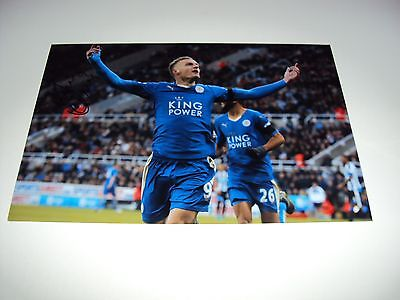 12x8 photo hand signed JAMIE VARDY Leicester City striker Premiership Champions