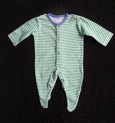 Baby clothes UNISEX BOY GIRL premature/tiny<6lbs/2.7kg green stripe babygrow