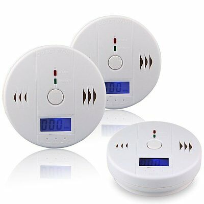 CO Carbon Monoxide Tester Poisoning Gas Sensor Warning Alarm Detector LCD
