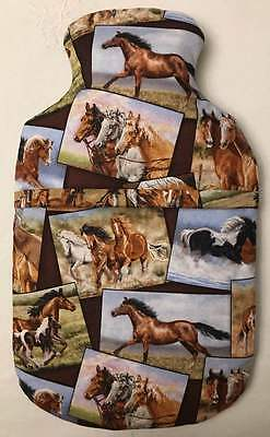 Horses Hot Water Bottle Cover ~ Free Uk Postage