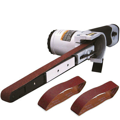 """1/2"""" x 18"""" Air Belt Sander with 40/60/80-Grit Belts Astro Pneumatic 3037 New"""