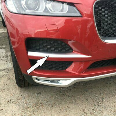 For Jaguar F-pace 2017 2018 Chrome Car Front Side Corner Mesh Grill Cover Trim