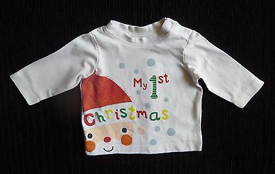 Baby clothes UNISEX BOY GIRL premature/tiny<7.8/3.5kg Christmas LS top/t-shirt
