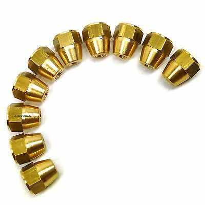 """Brass Brake Pipe Fittings 7/16"""" x 20 UNF Female 10 PACK for 3/16"""" Pipe FL19"""