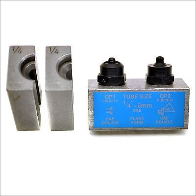 """1/4"""" SAE Brake Pipe Flaring Flare Tool Punch And Die Single / Double FL07"""