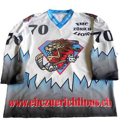 ZSC Lions Zurich #70 Tuscher Hockey Shirt Switzerland Ice Hockey Eishockey