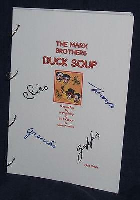 Movie Script - Cast Signed - Duck Soup - Marx Brothers