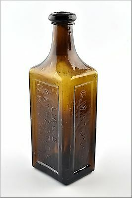 Stoddard  G. W. Stone's Liquid Cathartic & Family Physic Bottle Lowell Mass