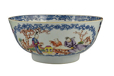 18th Century Antique Chinese Famille Rose Porcelain Bowl