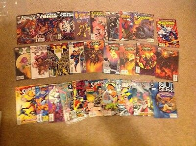 Lot Of 28 Marvel And DC Comics
