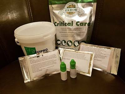Care Kit For Rabbits/Guinea Pigs Ivermectin Critical Care Avproplus and Virkon S