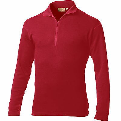 Minus33 Merino Wool Isolation Midweight 1/4 Zip Top (True Red)