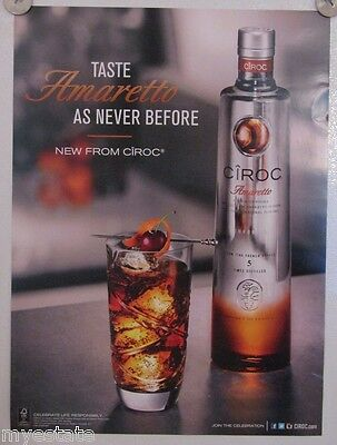 New Lot of 2 Store Display Paper Posters Ad Print  Ciroc Amaretto