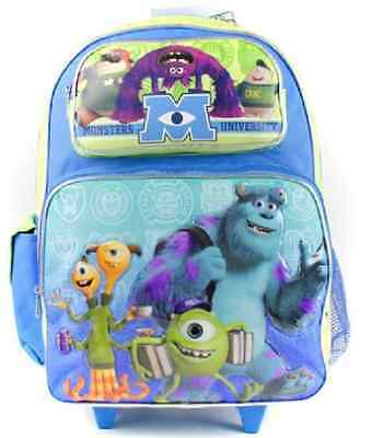 """Monsters University Mike Sully Large 16"""" Rolling Backpack Wheels"""