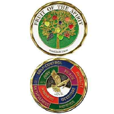 FRUIT OF THE SPIRIT Challenge Coin Token Religious Christian Galatians love joy