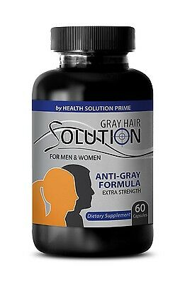 Metabolism Boost - Anti Gray Hair Solution 1500mg - Gray Hair Color Additive 1B
