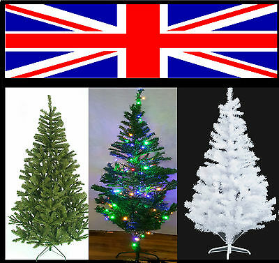 6FT Kingfisher Artificial Pine Traditional Christmas Xmas Tree With Stand