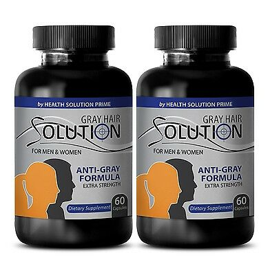 Regrowth Hair Supplements - Anti Gray Hair Solution 1500mg - Cover Gray Hair 2B