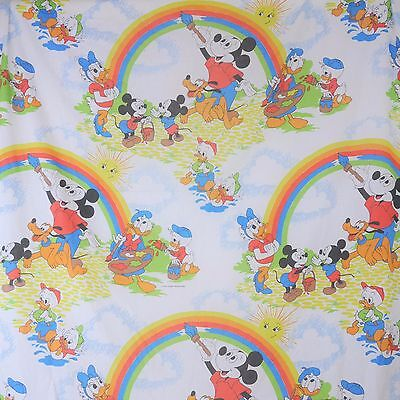 VINTAGE Disney Mickey Mouse and Friends Twin 2 Piece Sheet Set - Donald Pluto