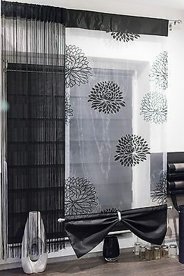 Modern Beautiful Set Of Net Voile Curtains Panel Strings Kitchen Bedroom