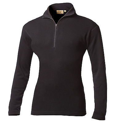 Minus33 Merino Wool Kobuk Expedition 1/4 Zip Top (Black)