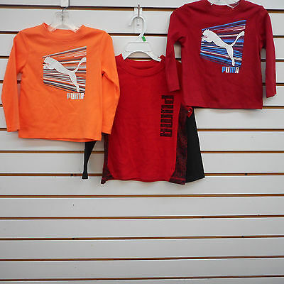 Puma Infant & Toddler Boy Sizes 12, 18 Mth., & 3T Assorted Long Sleeved Shirts