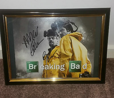 Breaking Bad Hand Signed With Coa - Bryan Cranstone Aaron Paul Framed Photo