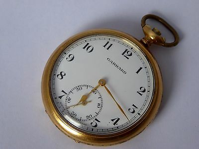 Antique 1900s Garrard Gold Plated  Pocket Watch  Needs Work  LAYBY AVILAIL