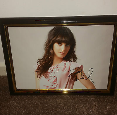 New Girl - Hand Signed By Zooey Deschanel With Coa Framed Autographed Photo