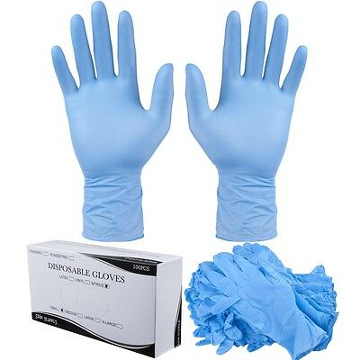 1000pcs Disposable Nitrile Gloves Powder Free Food Cleaning Non Latex Size Opt