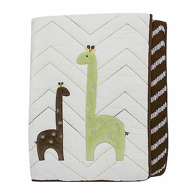 Lambs & Ivy Giraffe Collection Reversible Coverlet