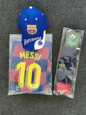 ( EXPRESS POST ) New 2018 Kids Soccer Jersey  #10 Messi Barcelona Set Top+Short
