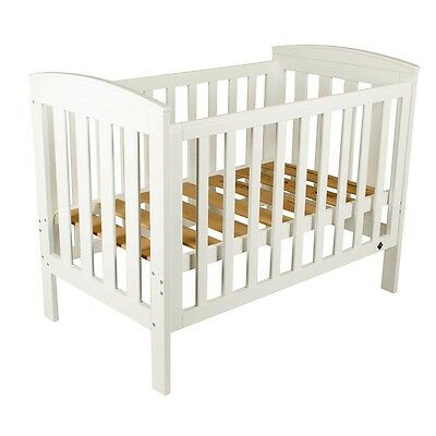 NEW BebeCare Oxford Baby Cot Toddler Bed White #`091234-003
