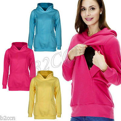 Maternity Nursing Clothes Warm Breastfeeding Clothing Pregnancy Women Hoodie Top