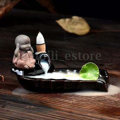 Chinese Fengshui Monk Buddha Tower Incense Holder Cone Incense Burner Home Decor