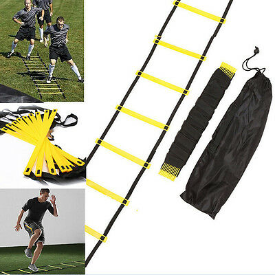 New 6-rung Agility Ladder for Soccer Football Speed Fitness Feet Training +bagHU
