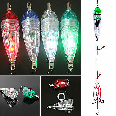 New LED Underwater Lamp Flash Attract Fishing Light Deep Drop Squid Bait Lure