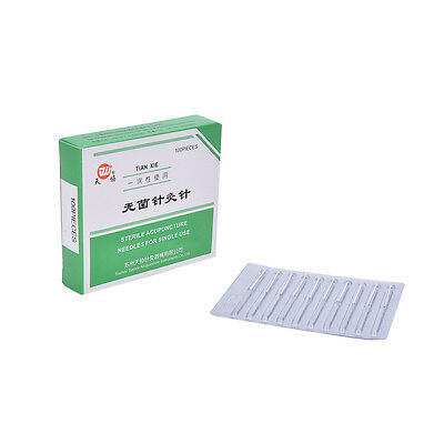 New 1Pk 100 Authentic Acupuncture Needles  25mm x0.25mm CC