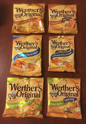 Werther's Original Candy You Choose Flavor!  Regular or Sugar Free USA Seller