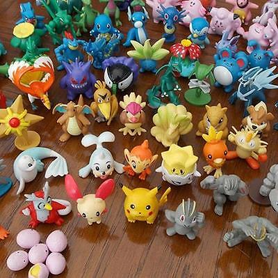 Wholesale 24PCS/Lot Cute Pokemon Mini Random Pearl Figure  Character Toy Fashion