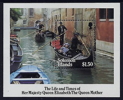 1985 Solomon Islands Life & Times Of The Queen Mother Minisheet Fine Mint Mnh