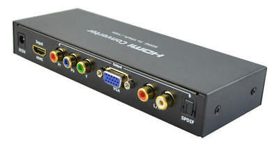 HDMI to VGA or YPbPr Component Video(5RCA) Converter (with optical Audio)