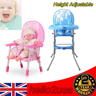 Foldable Baby Highchair Infant High Feeding Seat Toddler Table Chair Seat UK