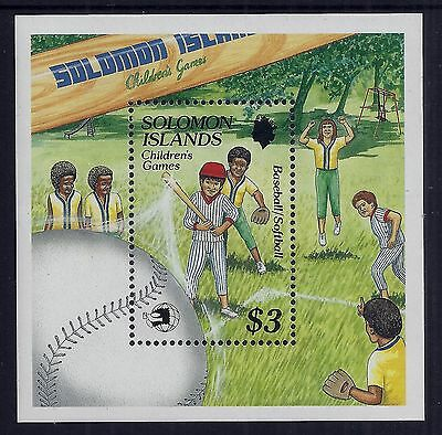 1989 Solomon Islands Childrens Games/world Stamp Expo Minisheet Fine Mint Mnh