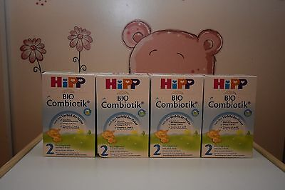 4 BOXES HiPP Stage 2 Organic Follow on Milk Combiotik Free Priority shipping